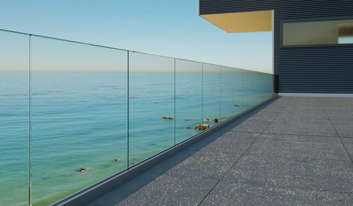 glass balustrade in Sydney