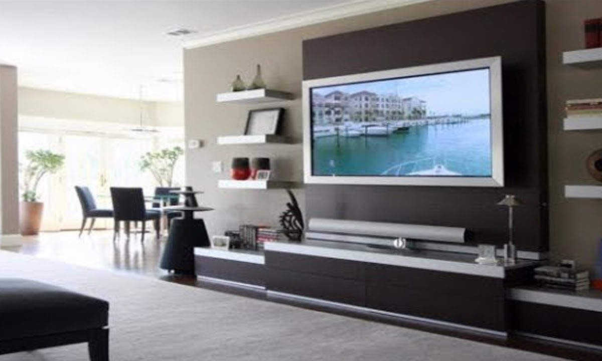 Install And Design The Tv Unit To Match The Beauty Of Living Room