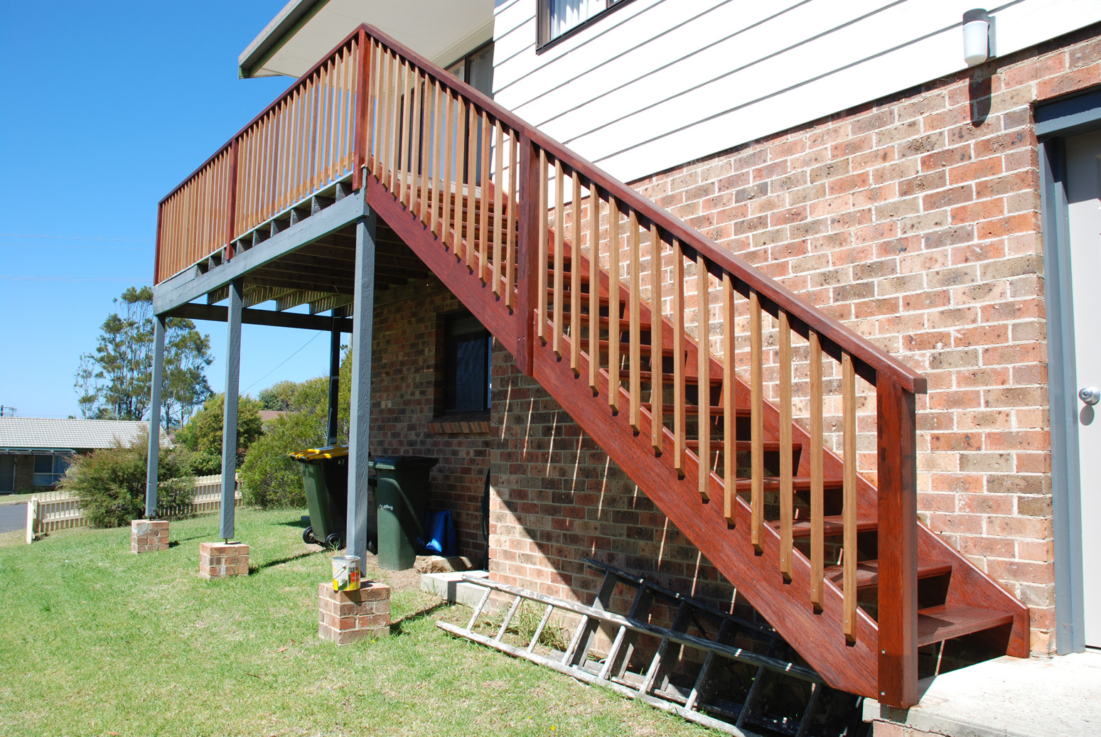 When You Have Stunning External Stairs In Your Backyard…